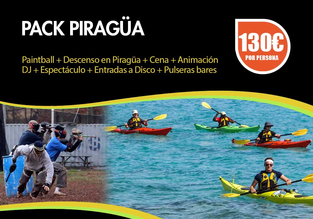 Pack piragua despedidas Pamplona