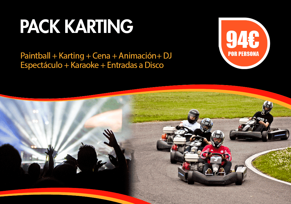 Pack karts despedidas Pamplona